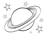 <span class='hidden-xs'>Coloriage de </span>Anneau planétaire à colorier