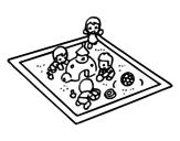 <span class='hidden-xs'>Coloriage de </span>Bac à sable à colorier