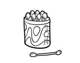 <span class='hidden-xs'>Coloriage de </span>Bâtonnet ouaté oreille à colorier