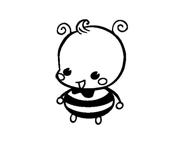 Coloriage de Bébé abeille pour Colorier