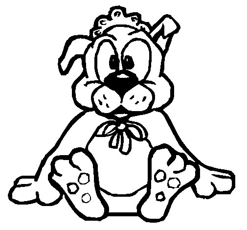 Coloriage de b b chien pour colorier - Dessin bebe chien ...