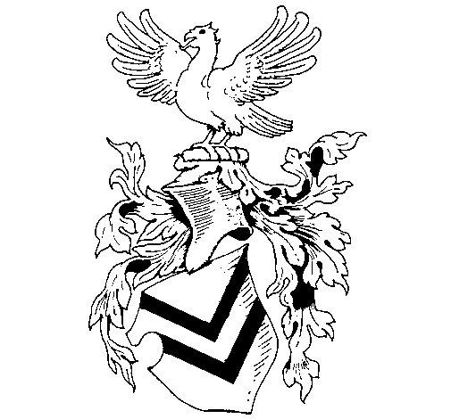 Coloriage de Blason et aigle  pour Colorier