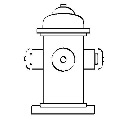 Coloriage de Bouche d'incendie pour Colorier