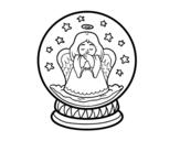 Dibujo de Boule de neige avec ange