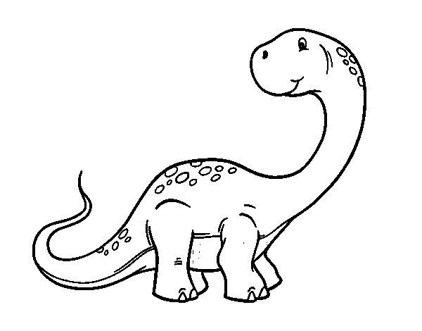 Coloriage de Brachiosaure pour Colorier