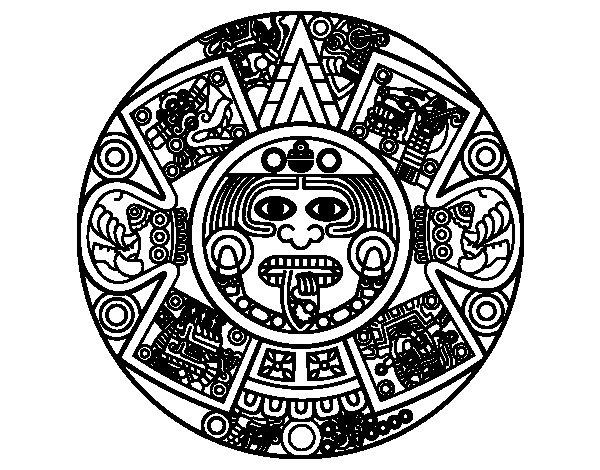 Coloriage de calendrier azt que pour colorier - Dessin azteque ...