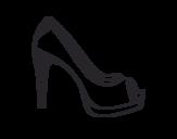 <span class='hidden-xs'>Coloriage de </span>Chaussure de plate-forme à colorier
