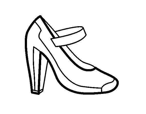 Coloriage de Chaussure de salon pour Colorier
