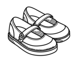 <span class='hidden-xs'>Coloriage de </span>Chaussures de fille à colorier