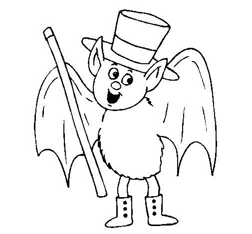 Coloriage de chauve souris magicienne pour colorier - Chauve souris dessin ...