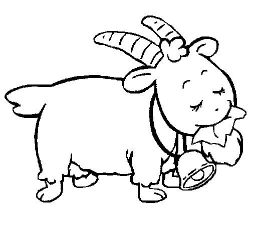 Coloriage de Chèvre 5 pour Colorier