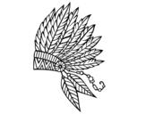 <span class='hidden-xs'>Coloriage de </span>Couronne de plumes indienne à colorier