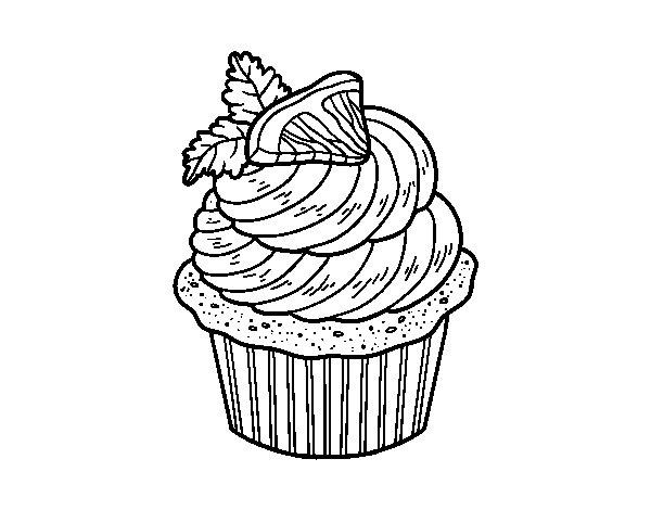 Coloriage de cupcake au citron pour colorier - Coloriage citron ...