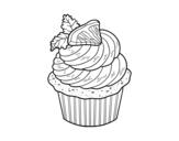 <span class='hidden-xs'>Coloriage de </span>Cupcake au citron à colorier