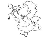 <span class='hidden-xs'>Coloriage de </span>Cupidon avec sa flèche à colorier