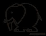 <span class='hidden-xs'>Coloriage de </span>Éléphant gros à colorier