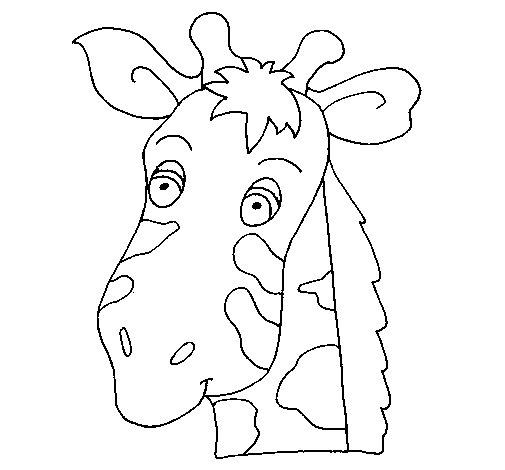 Coloriage de Face de girafe pour Colorier