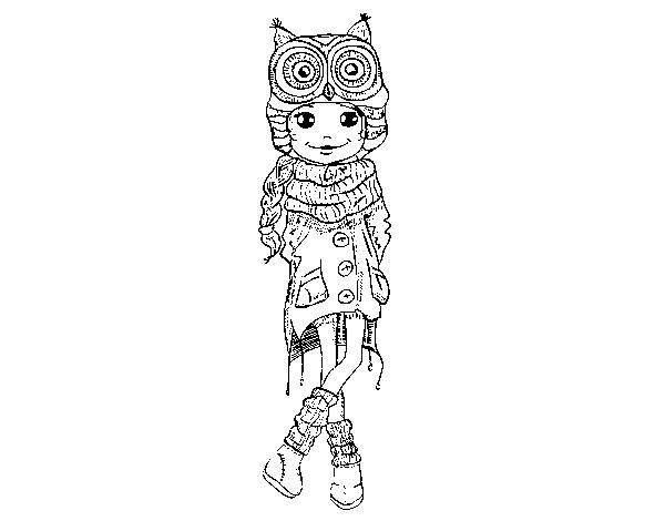 Coloriage de fille de mode hiver pour colorier - Dessin de fille de mode ...