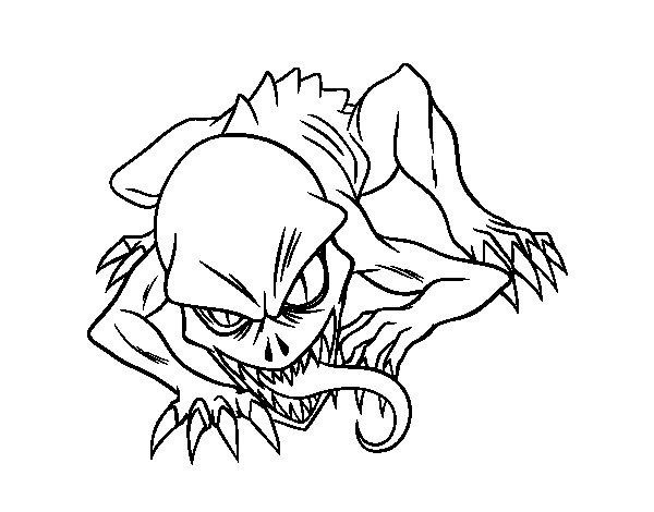 Coloriage de Ghoul pour Colorier