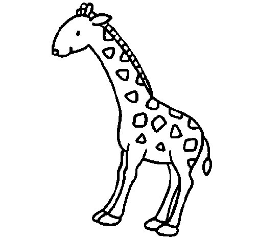 Coloriage de Girafe 2 pour Colorier