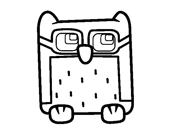 Coloriage de Hibou à lunettes pour Colorier
