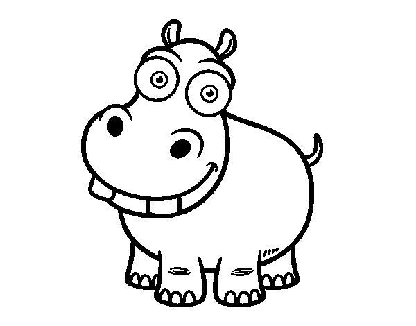 Coloriage de Hippo pour Colorier