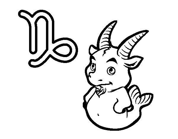 Capricorn signs coloring pages coloring coloring pages for Capricorn coloring pages