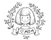 <span class='hidden-xs'>Coloriage de </span>I love mom à colorier