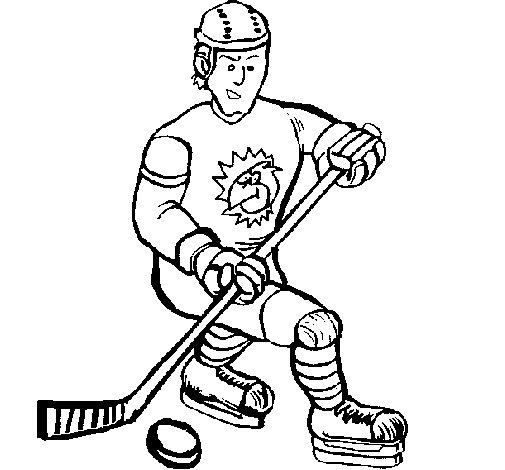 Coloriage de Joueur de hockey sur glace pour Colorier
