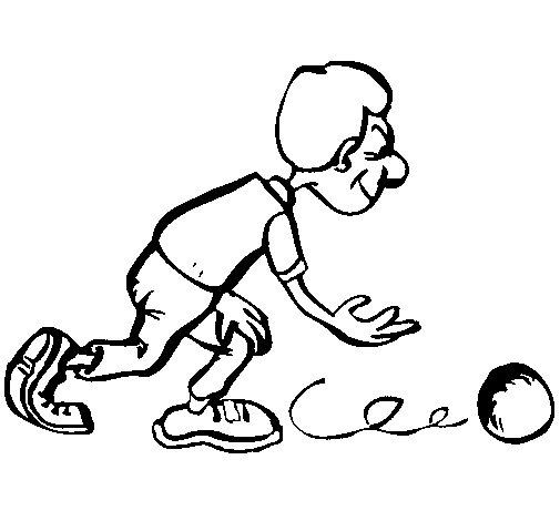 Coloriage de joueur de quilles pour colorier - Dessin de joueur de rugby ...