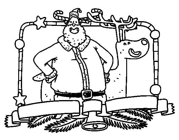 Coloriage de Joyeux Noël à tous pour Colorier
