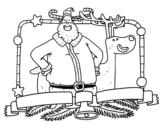 <span class='hidden-xs'>Coloriage de </span>Joyeux Noël à tous à colorier