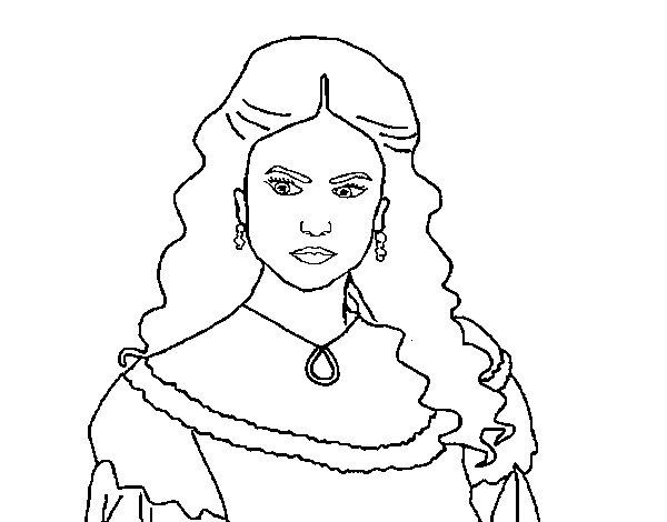 Coloriage De Katherine Pierce De Journal D Un Vampire Pour Colorier Coloritou Com