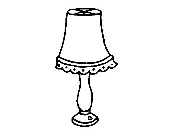Coloriage de lampe de table pour colorier - Coloriage lampe ...