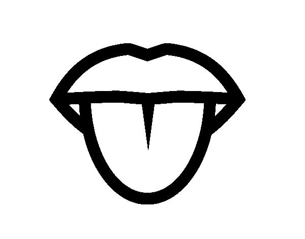 coloriage de langue pour colorier coloritoucom - Langue Dessin