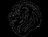 <span class='hidden-xs'>Coloriage de </span>Lion tribal à colorier