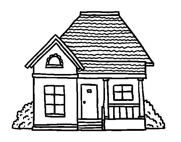 Coloriage de maison de campagne pour colorier - Maison de campagne dessin ...