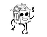 <span class='hidden-xs'>Coloriage de </span>Maison saluer à colorier