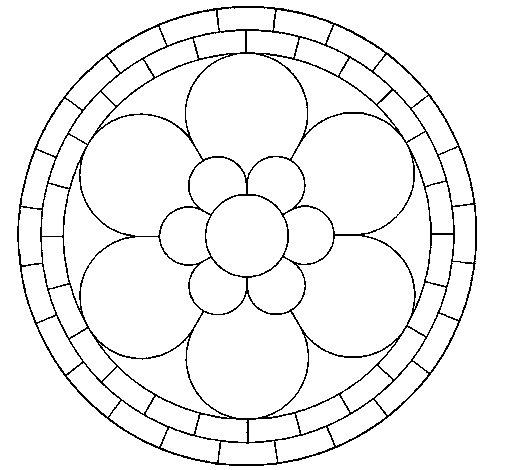 Coloriage de Mandala 2 pour Colorier