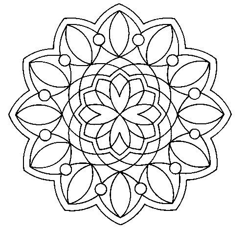 Coloriage de Mandala 3 pour Colorier