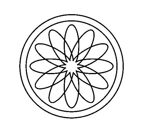 Coloriage de Mandala 34 pour Colorier
