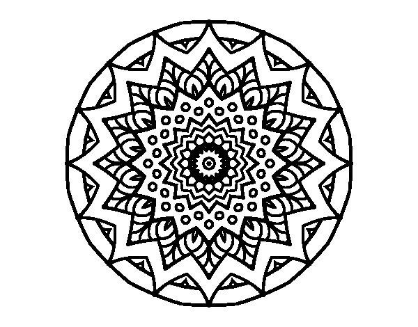 Coloriage de Mandala croissante pour Colorier