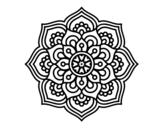 <span class='hidden-xs'>Coloriage de </span>Mandala fleur de concentration à colorier