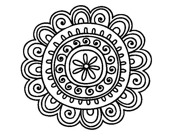 Coloriage de Mandala joyeux pour Colorier