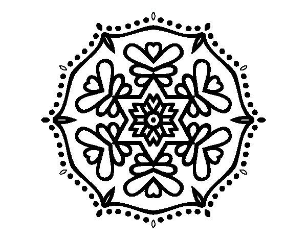Coloriage de Mandala symétrique pour Colorier