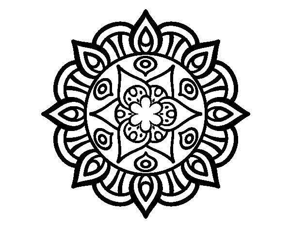 Coloriage de Mandala vie vegetale pour Colorier