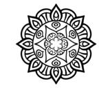 <span class='hidden-xs'>Coloriage de </span>Mandala vie vegetale à colorier