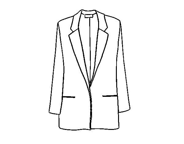 Coloriage de manteau court pour colorier - Manteau dessin ...