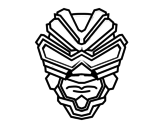 <span class='hidden-xs'>Coloriage de </span>Masque de rayon gamma à colorier