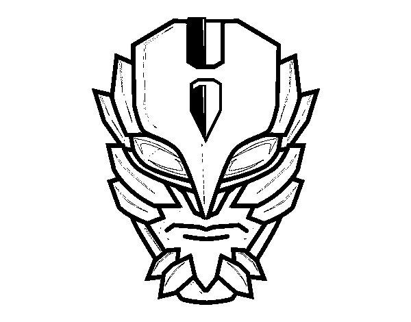 Coloriage de masque de super vilain pour colorier - Masque super heros imprimer ...
